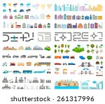 elements of the modern city....   Shutterstock .eps vector #261317996