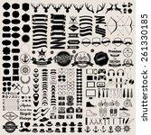 hipster style infographics... | Shutterstock .eps vector #261330185