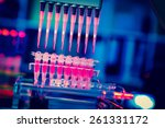 multi pipette    research of... | Shutterstock . vector #261331172