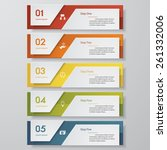 design clean number banners... | Shutterstock .eps vector #261332006
