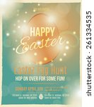 bright and sparkling easter egg ... | Shutterstock .eps vector #261334535