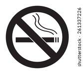 icon no smoking flat vector | Shutterstock .eps vector #261337226