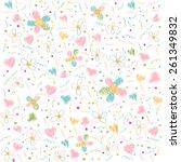 seamless floral pattern ...   Shutterstock .eps vector #261349832