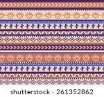 vector seamless aztec pattern... | Shutterstock .eps vector #261352862