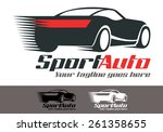 sport car is a fresh and modern ... | Shutterstock .eps vector #261358655