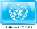 united nations flag icon | Shutterstock .eps vector #2613595