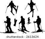 skiing girl | Shutterstock .eps vector #2613624