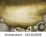 metallic gears background | Shutterstock . vector #261362828