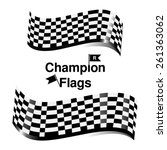 checkered racing flag | Shutterstock .eps vector #261363062