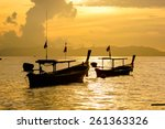 Fishing Boat Floating On The...