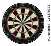 Dart Board. Close Up Picture