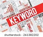 keyword word cloud  business... | Shutterstock .eps vector #261382202
