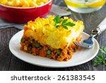 cottage pie  shepherd's pie ... | Shutterstock . vector #261383545
