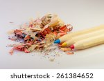 pencils primary colors red blue ... | Shutterstock . vector #261384652