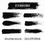 brush strokes set. paintbrush... | Shutterstock .eps vector #261392846