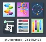 brochure set business... | Shutterstock .eps vector #261402416