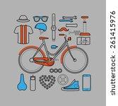 hipster lineart flat design... | Shutterstock .eps vector #261415976
