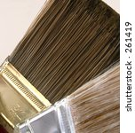 two paint brushes up close | Shutterstock . vector #261419