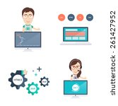 web development icons and... | Shutterstock .eps vector #261427952