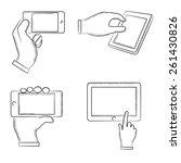 hand gestures  sketch hand with ... | Shutterstock .eps vector #261430826