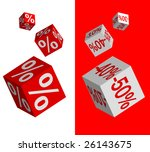 set of vector discount dices on ... | Shutterstock .eps vector #26143675