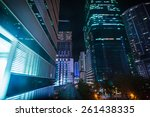view of illuminated city at... | Shutterstock . vector #261438335