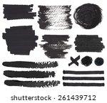vector set of isolated on white ... | Shutterstock .eps vector #261439712