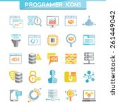programer icons set  software... | Shutterstock .eps vector #261449042
