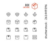 box icon set. vector...