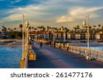 the belmont pier in long beach  ... | Shutterstock . vector #261477176