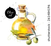 Olive Bottle Vector...
