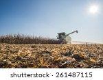Harvesting Of Corn Field