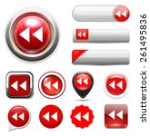 media  player button icon | Shutterstock .eps vector #261495836