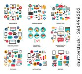 set of elements for freelance... | Shutterstock .eps vector #261496202
