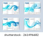 collection of tri fold brochure ... | Shutterstock .eps vector #261496682