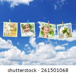 photo collage of a little girl... | Shutterstock . vector #261501068