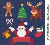 merry christmas   Shutterstock . vector #261502262
