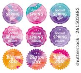 spring offer stickers with... | Shutterstock .eps vector #261502682