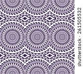 seamless pattern. vintage... | Shutterstock .eps vector #261505532