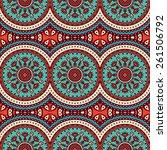 seamless pattern. vintage... | Shutterstock .eps vector #261506792