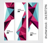 colorful geometric abstract... | Shutterstock .eps vector #261507296