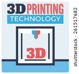 3d printing technology concept