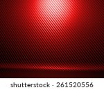 background of red carbon fiber... | Shutterstock . vector #261520556