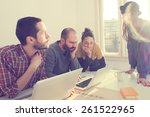 young group of people... | Shutterstock . vector #261522965
