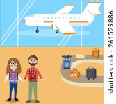 travel arrive the airport | Shutterstock .eps vector #261529886