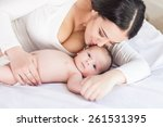 happy family. mother and baby | Shutterstock . vector #261531395