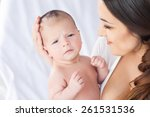 happy family. mother and baby | Shutterstock . vector #261531536