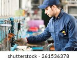 portrait of a worker searching... | Shutterstock . vector #261536378
