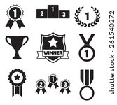 trophy and awards icons set ... | Shutterstock . vector #261540272