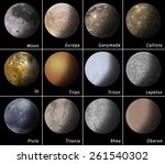 most known satellites of our... | Shutterstock . vector #261540302